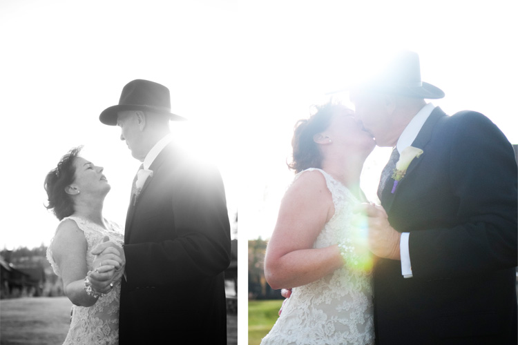 Winter Park Wedding Kiss Warren and Karen | Devils Thumb Ranch Wedding