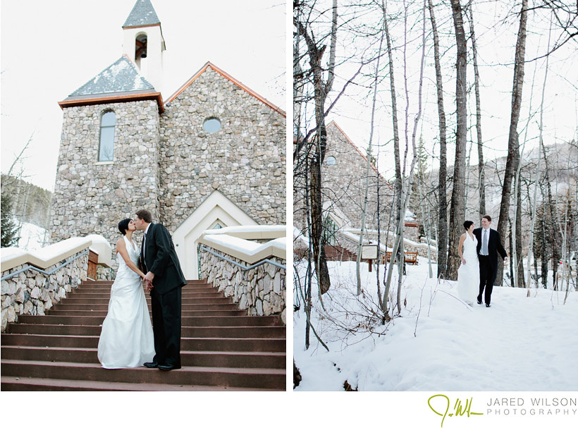 Beaver Creek Chapel Wedding steps Laura and Rob | Beaver Creek Wedding | Love This Day Events