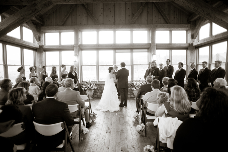 timberhouse wedding ceremony 11 Neysa and Scott | Devils Thumb Ranch Fall Wedding | Love This Day Events