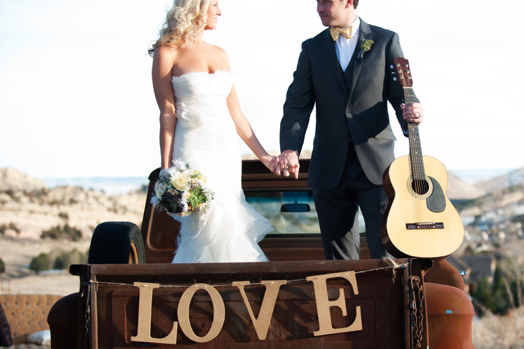 love sign on a truck wedding Vow Renewal | Love This Day | Brinton Studios