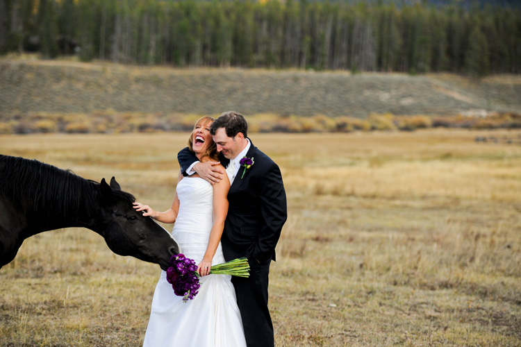 Devils Thumb Ranch wedding horse Thrilled to be featured on Style Me Pretty Today