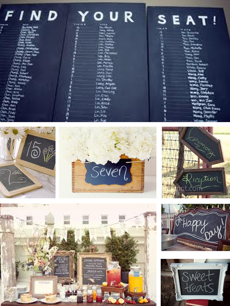 Colorado weddiing details Chalkboards Colorado Wedding Trends