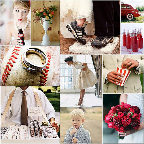 1940 Wedding Ideas: Baseball Wedding Ideas