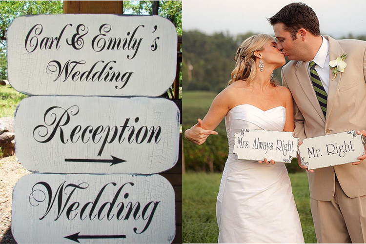 wedding signs 1 Colorado Wedding Trends Wedding Signage