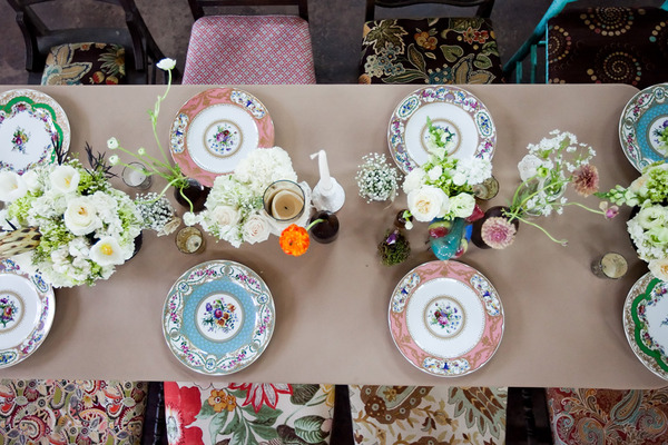 Mis Matched China For Vintage Weddings