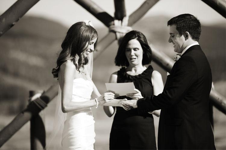 DTR ceremony Devils Thumb Ranch Wedding   Jennifer and Rob