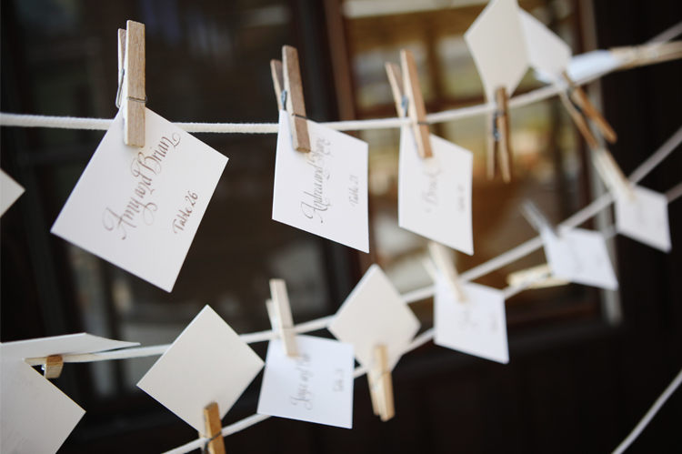 escort cards colorado ranch wedding Devils Thumb Ranch Wedding   Jennifer and Rob