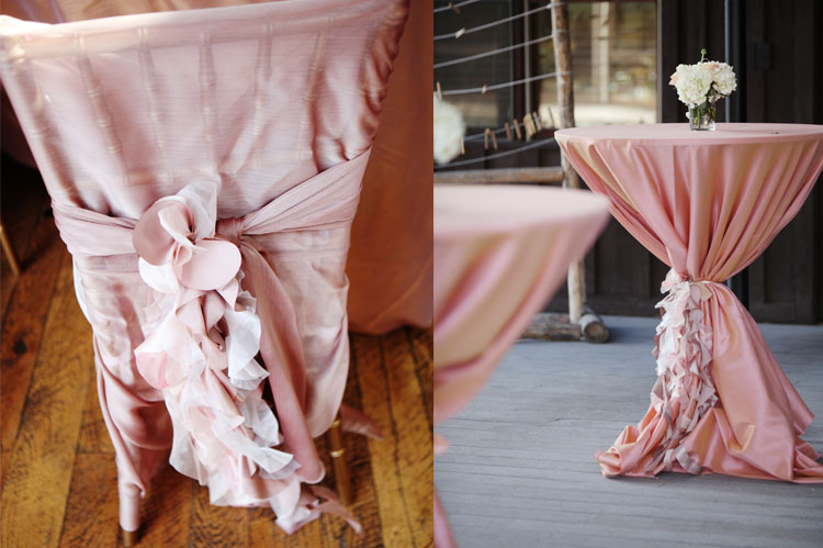 gorgeous linens at DTR Devils Thumb Ranch Wedding   Jennifer and Rob
