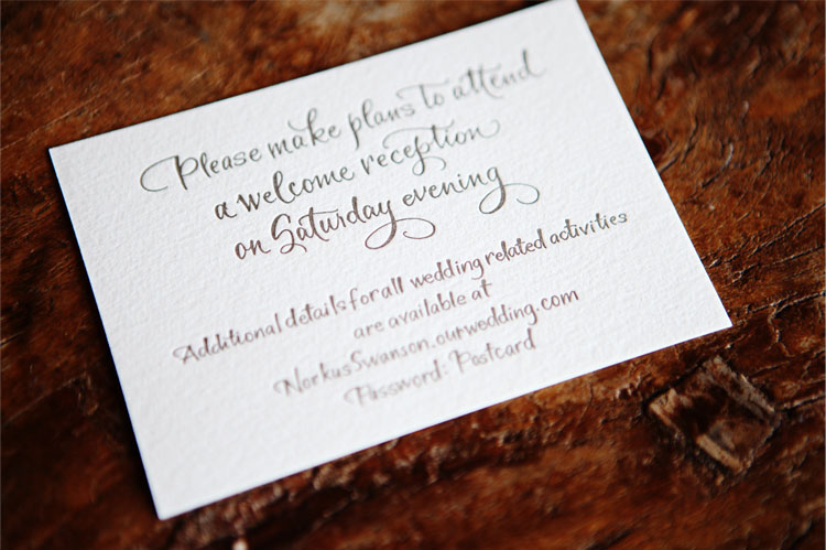 invite Jennifer and Robs Fall Wedding at Devils Thumb Ranch
