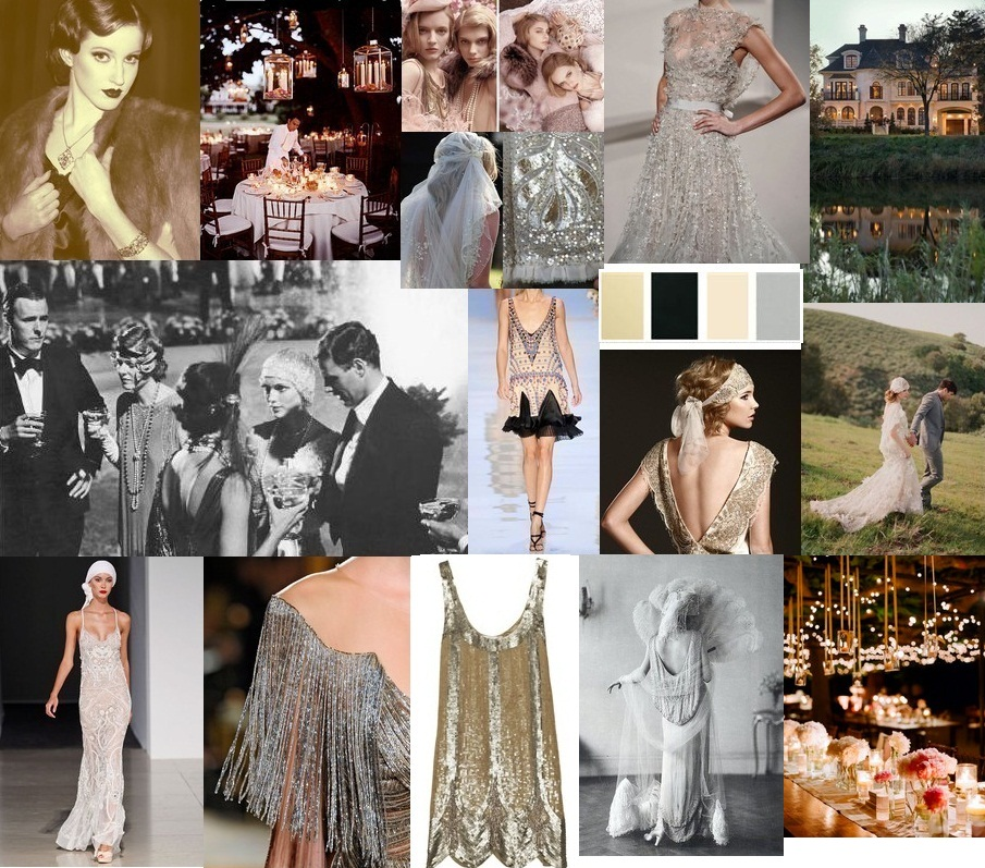 1920 gatsby party mood board wedding ideas wedding theme themed