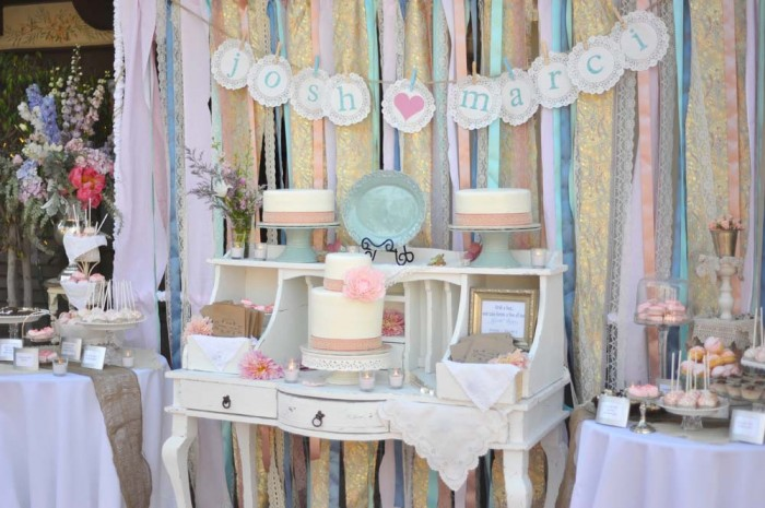 whimsical wedding reception decor ribbon backdrop wedding diy 1.original Ribbon spiration