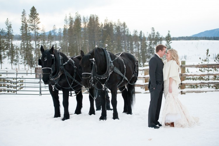 048 750x499 Claire + Bob Colorado Winter Wedding