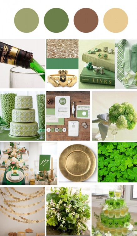 st paddys 437x750 St Patricks Day Wedding Inspiration