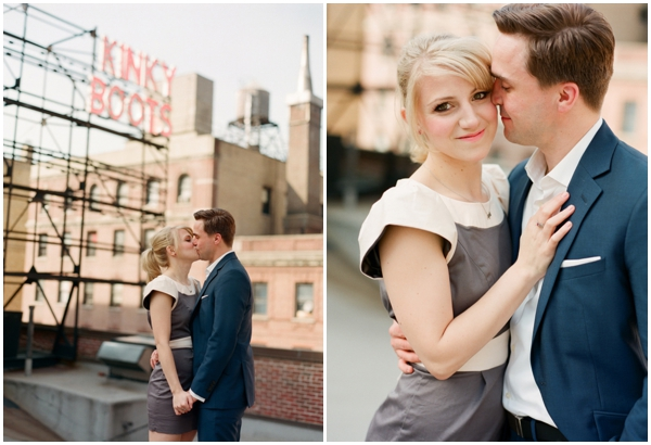 new york city engagement laura murray 01 Annie + Joeys NYC Engagement Session
