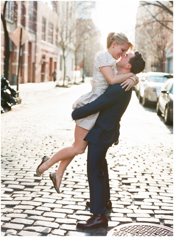 new york city engagement laura murray 111 Annie + Joeys NYC Engagement Session