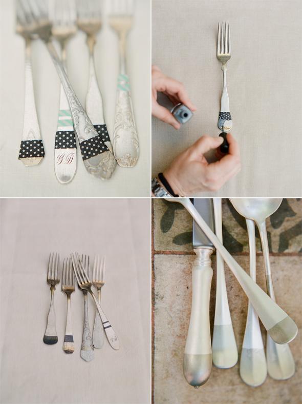 silver flatware wedding diy ideas1