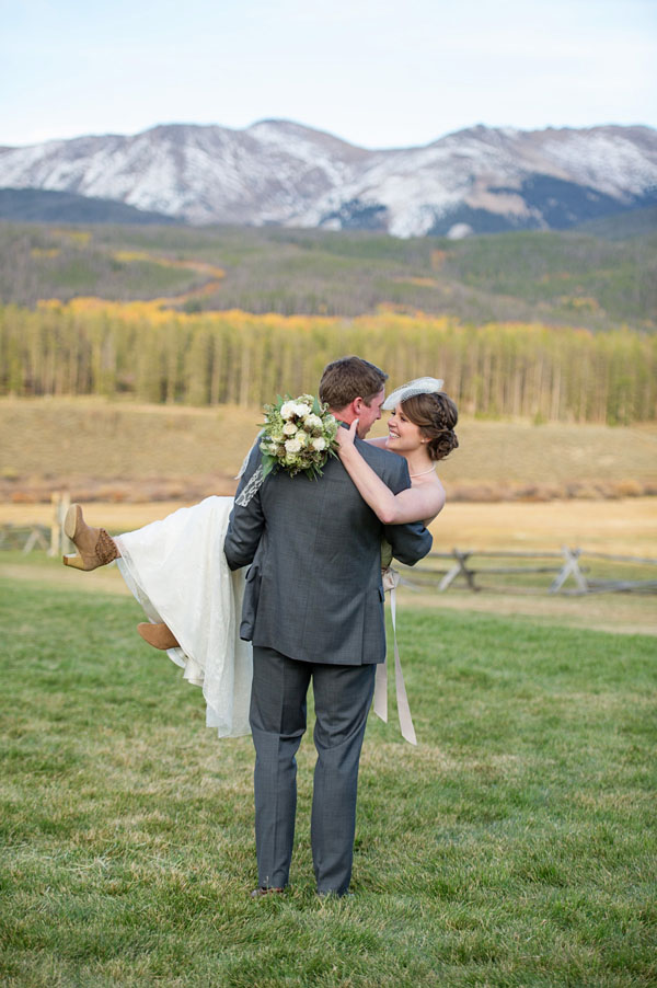 rustic ranch bride and groom