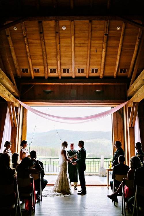 devilsthumbranchindoorweddingceremonycolorado kandace + rusty   devils thumb ranch wedding