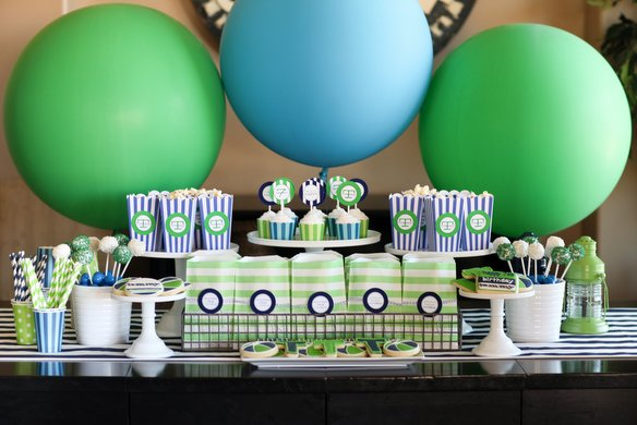 pool party dessert table Balloons