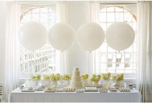 white balloon wedding ideas Balloons