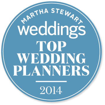 Honored to be named one of Martha Stewarts Top Wedding Planners