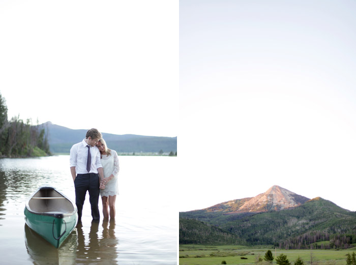 steamboat lake engagement session